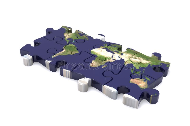 Serra de vaivém global ilustração stock