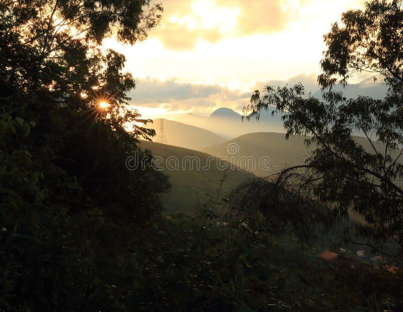 Serra del Na di Entardecer fotografia stock