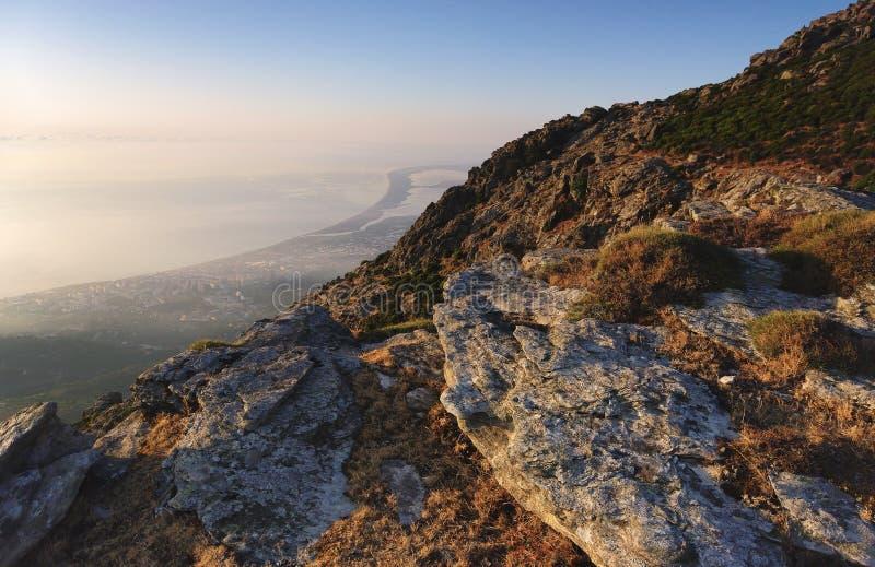 Serra di Pigno-Berg in Korsika stockbild