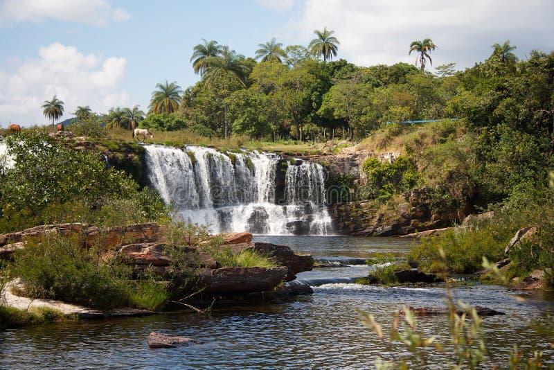 Serra do Cipo Big Waterfall stock photography
