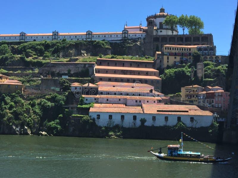 Serra do Pilar Monastery. Pilar, in Vila Nova de Gaia. Commanding a magnificent, panoramic view over the entire quaysides of Porto and Gaia as far as the Arrá stock image
