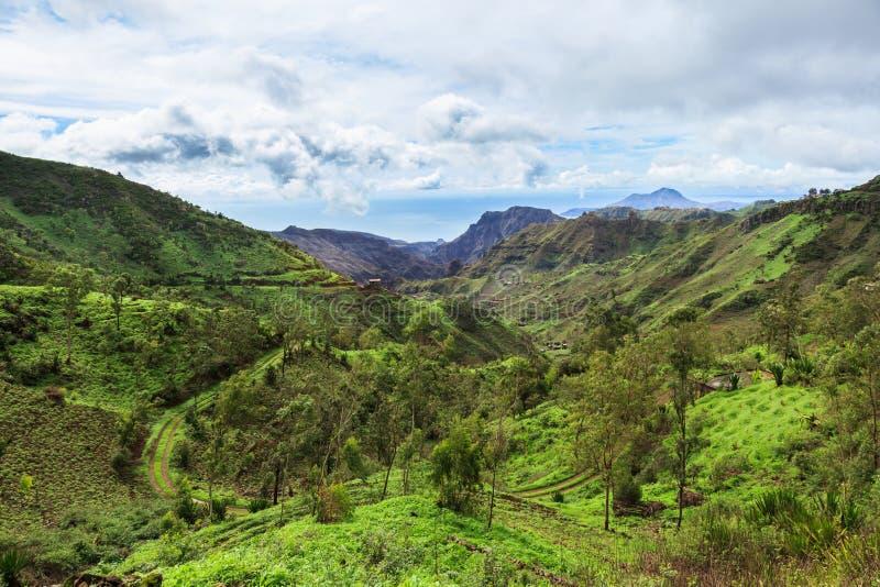 Serra Malagueta mountains in Santiago Island Cape Verde - Cabo V. Erde royalty free stock image