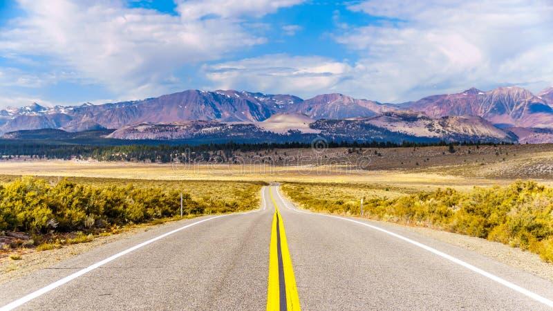 Serra Nevada visto da autoestrada 6 entre Tonopah e Basalt, Nevada imagem de stock royalty free
