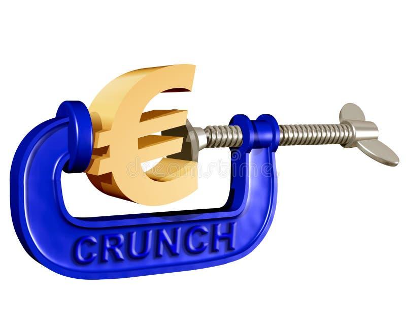 Serrage de l'euro illustration libre de droits