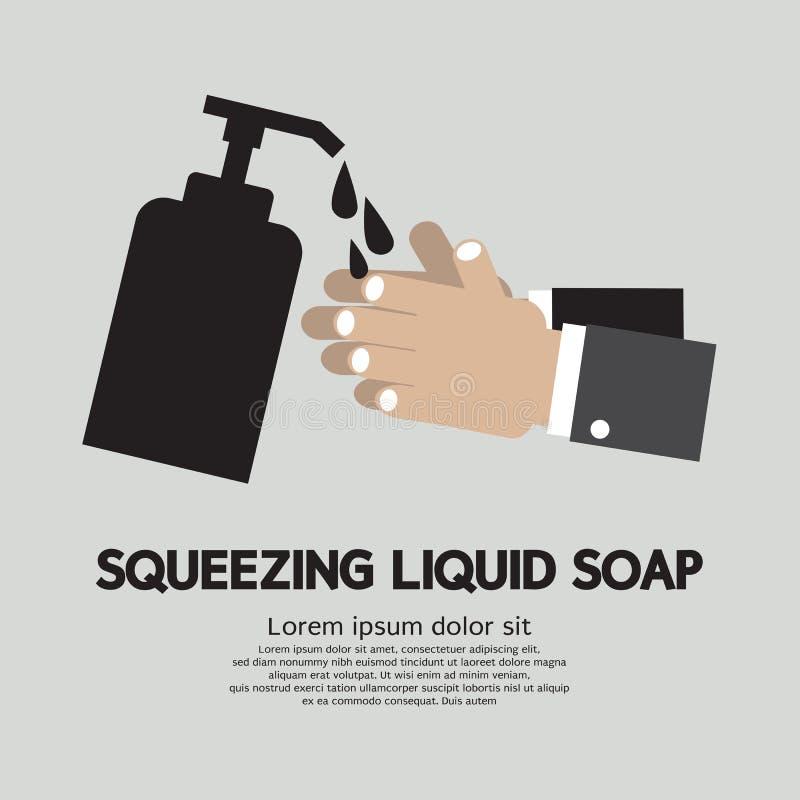 Serrage du savon liquide illustration de vecteur