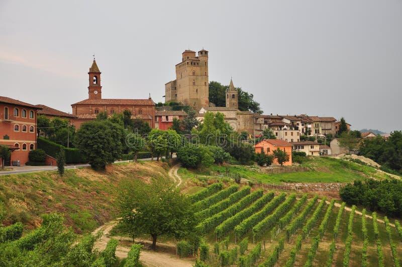 Serralunga Alba, Langhe, South Piemonte, Italy stock photography