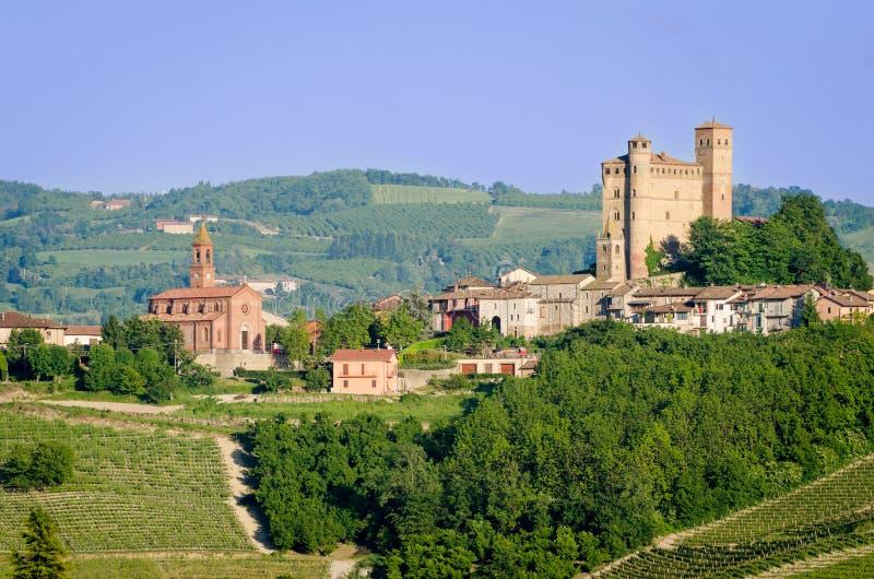 Serralunga d'Alba, Castle stock photography