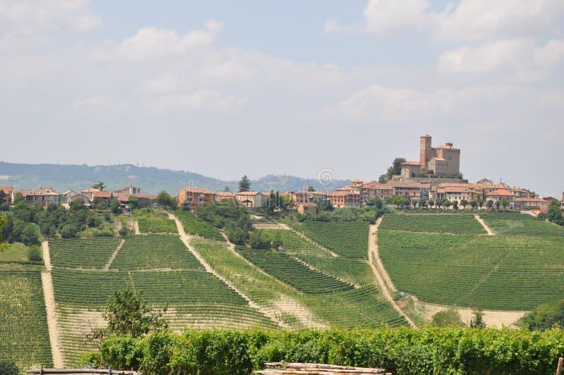 Serralunga di Alba barolo vineyards Langhe Italy royalty free stock photos