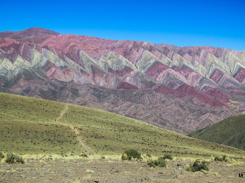 Serrania DE hornocal in humahuaca stock fotografie