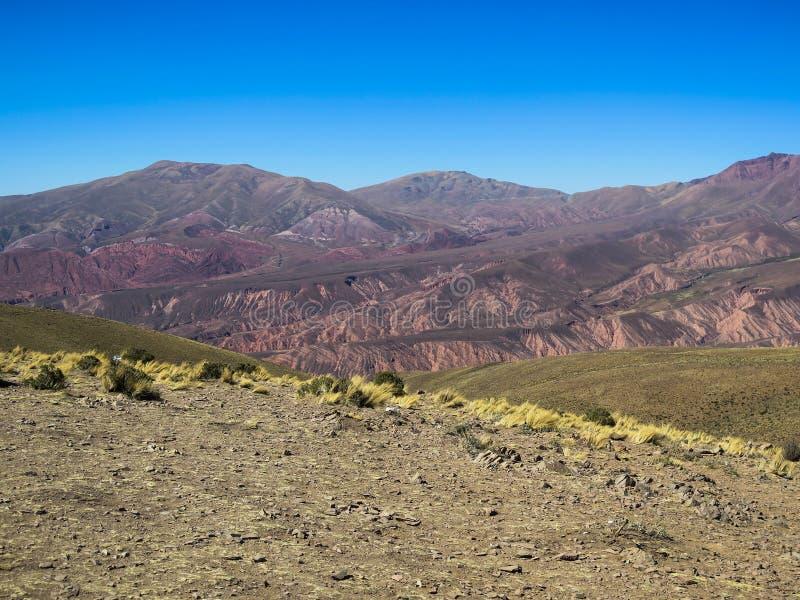 Serrania de hornocal in humahuaca royalty free stock photos