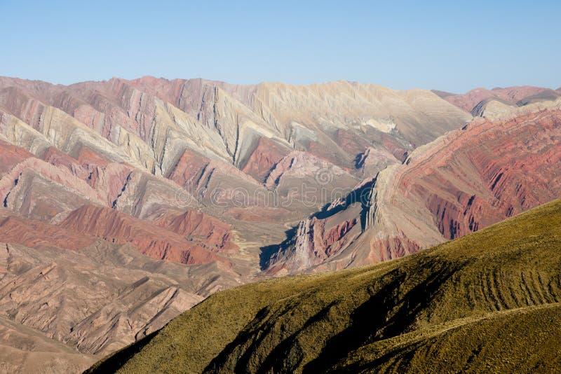 Serrania del Hornocal - Jujuy - Argentinië stock foto
