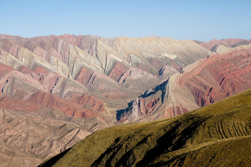 Serrania del Hornocal - Jujuy - l'Argentine photo stock