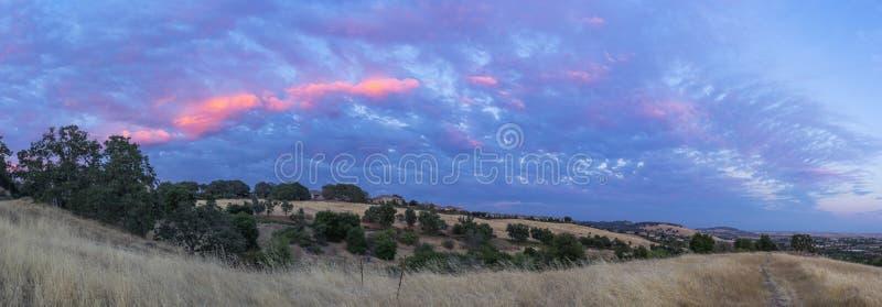 Serrano Blue Sunset Panorama royalty free stock photography