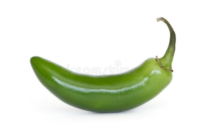 Serrano pepper. Isolated on white stock image