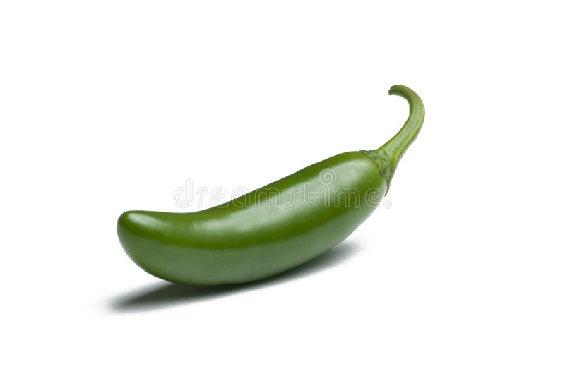 Serrano Pepper. On White Background stock images