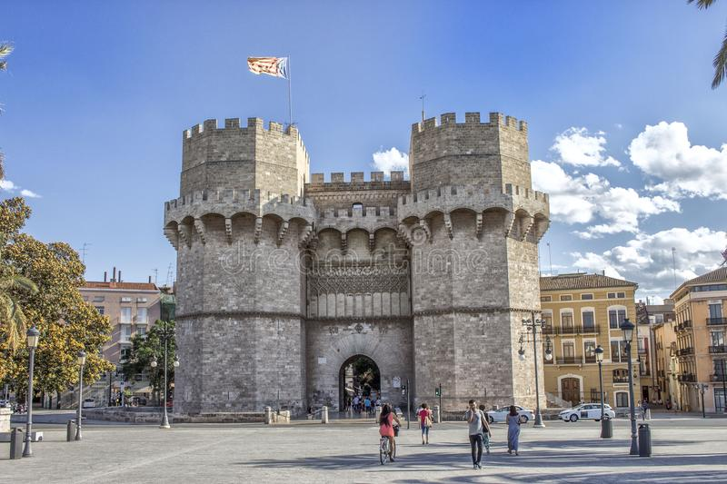 Serrano`s towers, Valencia royalty free stock images