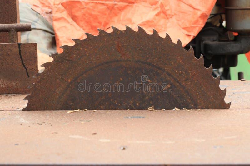 Serras de madeira circulares fotografia de stock royalty free