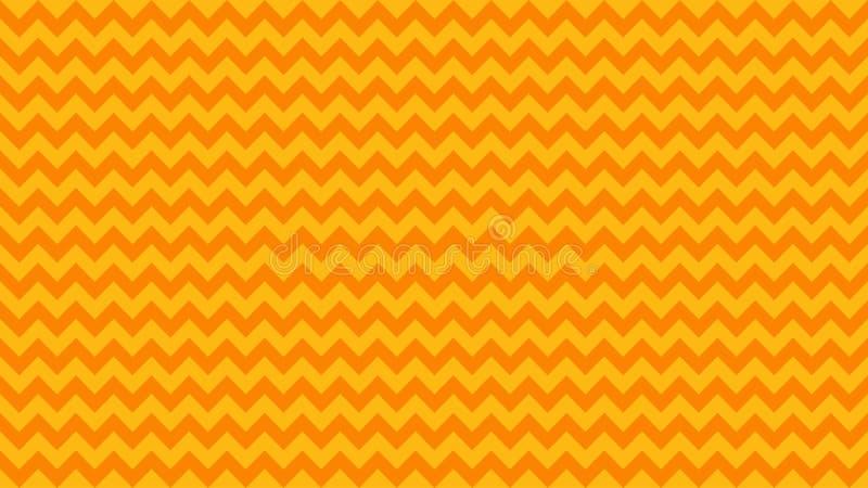 Serrated listrou a cor amarela alaranjada para o fundo, linha cor alaranjada da arte do ziguezague da forma, linha onda do curso  ilustração royalty free