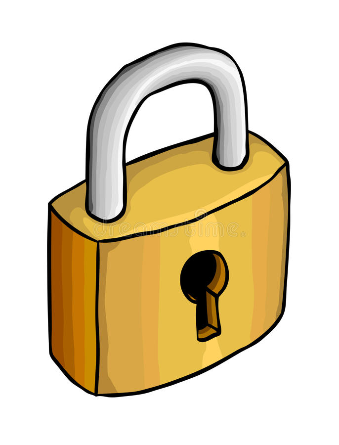 serratura illustrazione di stock