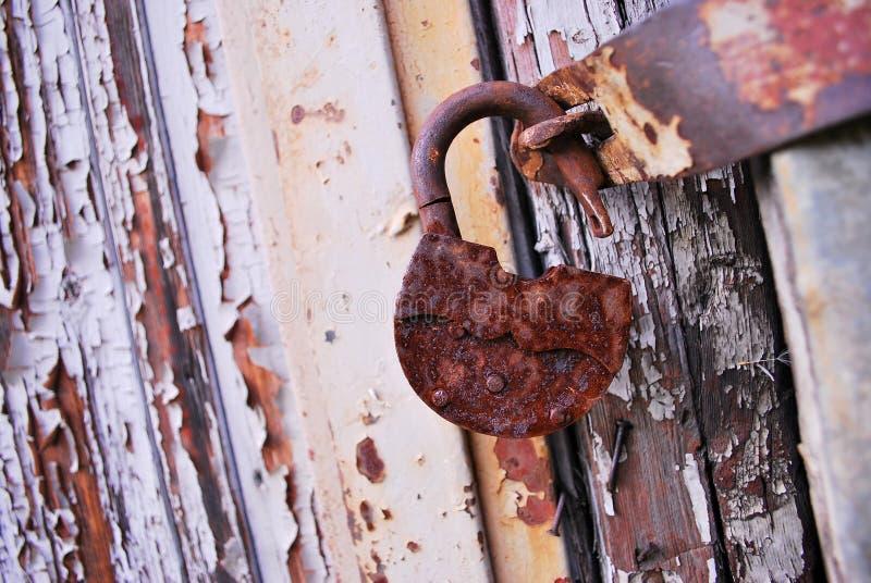 serratura arrugginita fotografie stock