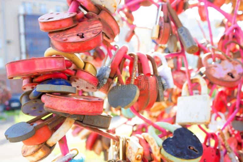 Serratura d'annata a forma di di amore del cuore fotografia stock