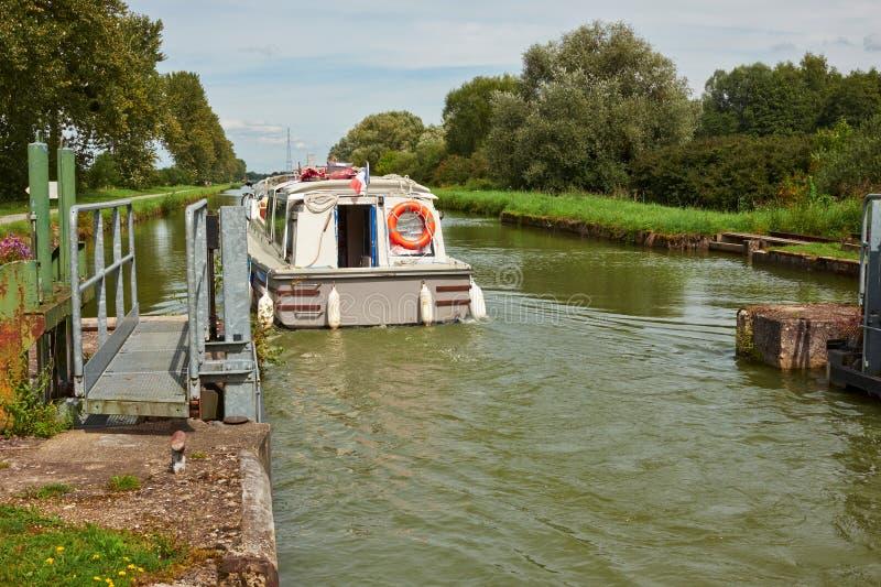 Serratura del canale immagine stock