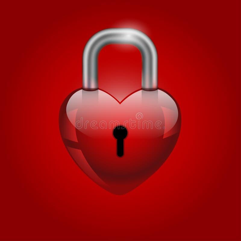 Serratura del cuore, icona di San Valentino royalty illustrazione gratis