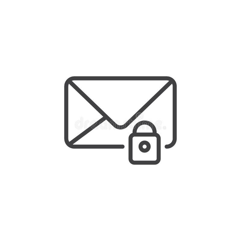 Serratura del messaggio di posta elettronica illustrazione di stock