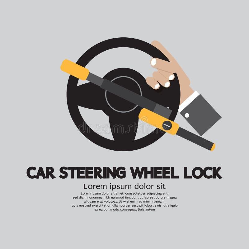 Serratura del volante dell'automobile royalty illustrazione gratis