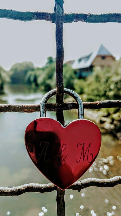 Serratura di amore immagine stock libera da diritti