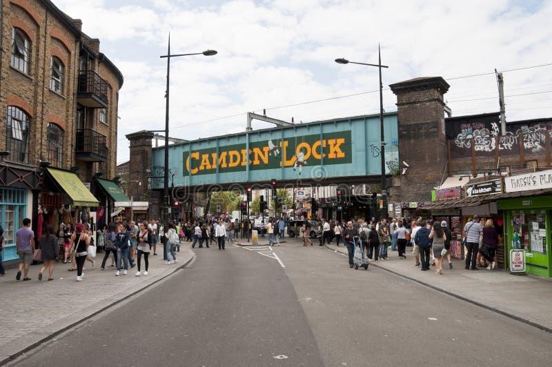 Serratura di Camden a Londra immagini stock