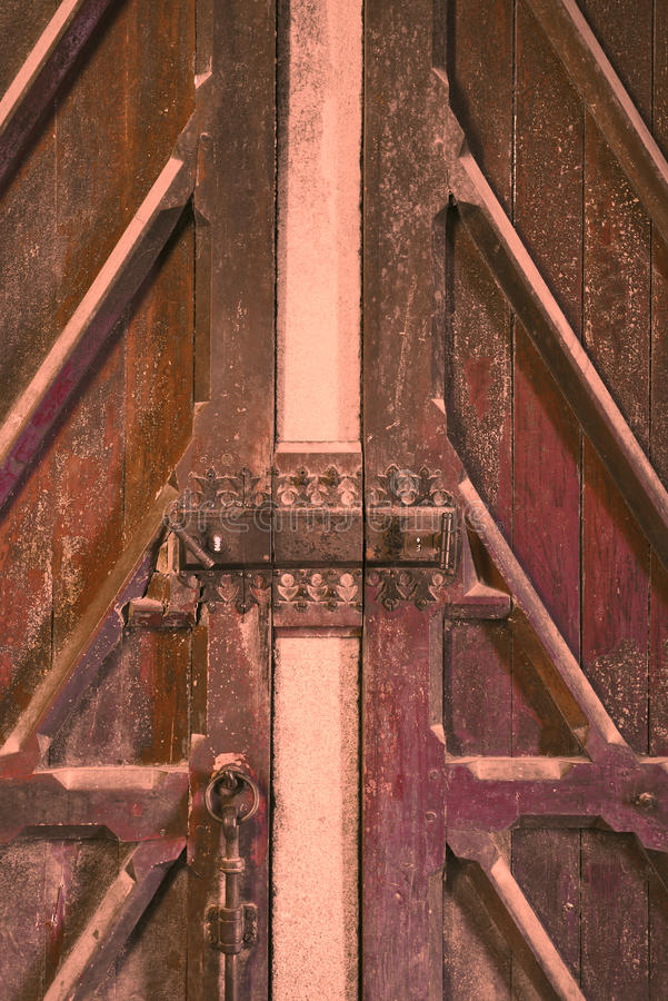 Serratura di porta a Mont Saint Michel Abbey fotografia stock libera da diritti