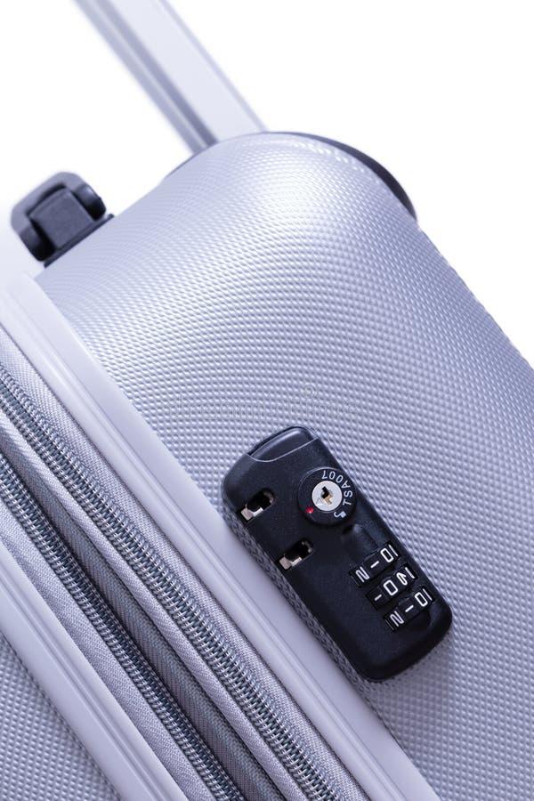 Serratura di sicurezza di TSA con la chiave-combinazione doppia fotografia stock