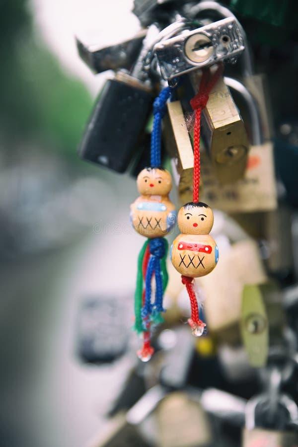 Serrature di amore a Amsterdam immagini stock