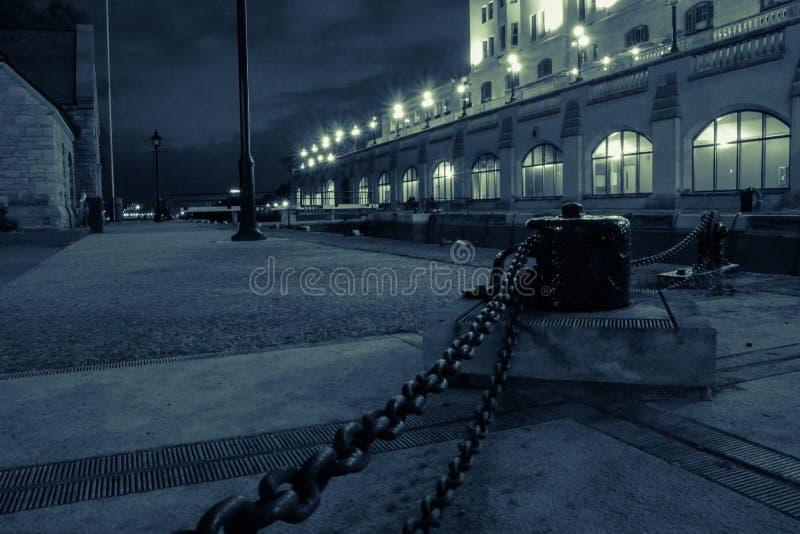 Serrature di Ottawa alla notte fotografie stock