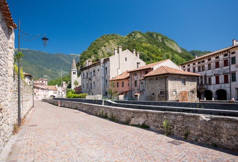 Serravalle in Vittorio Veneto, Italië royalty-vrije stock afbeelding