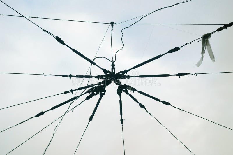 Serre-câble dans le réseau de ville de contact, Russie photo stock