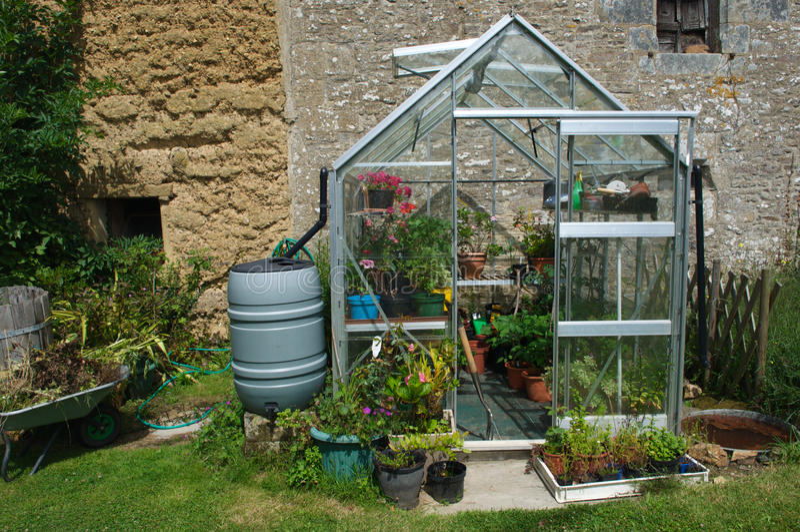 serre chaude de jardin de brittany images libres de droits