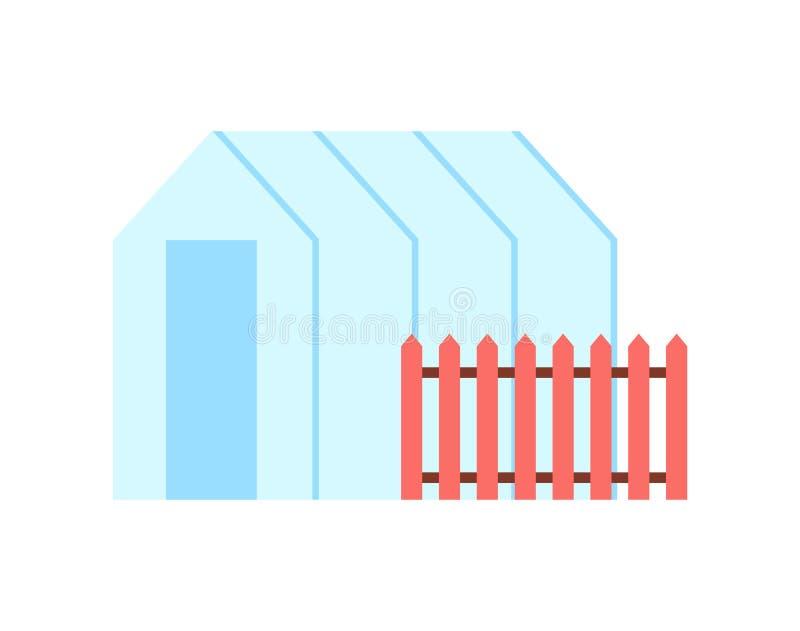 Serre chaude et barrière Vector Illustration de serre chaude illustration de vecteur