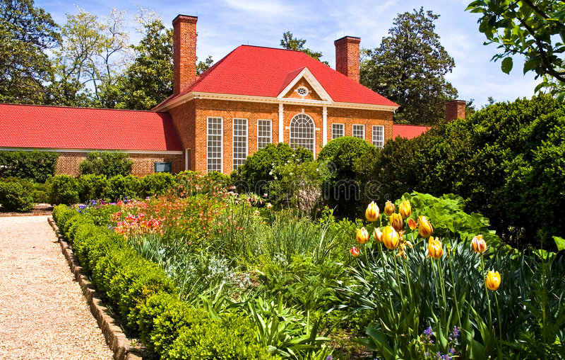 Serre chaude et jardin de Mt Vernon photo libre de droits