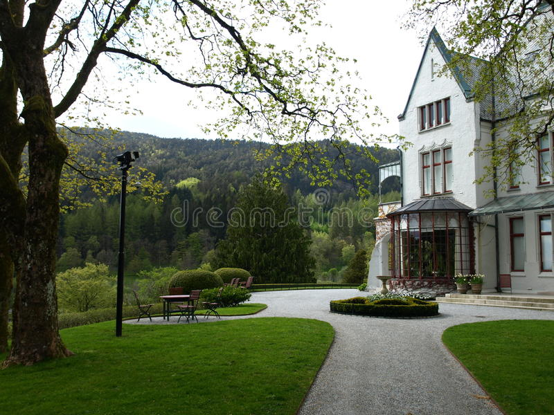 Serre chaude et parc royaux de château de Bergen photographie stock libre de droits
