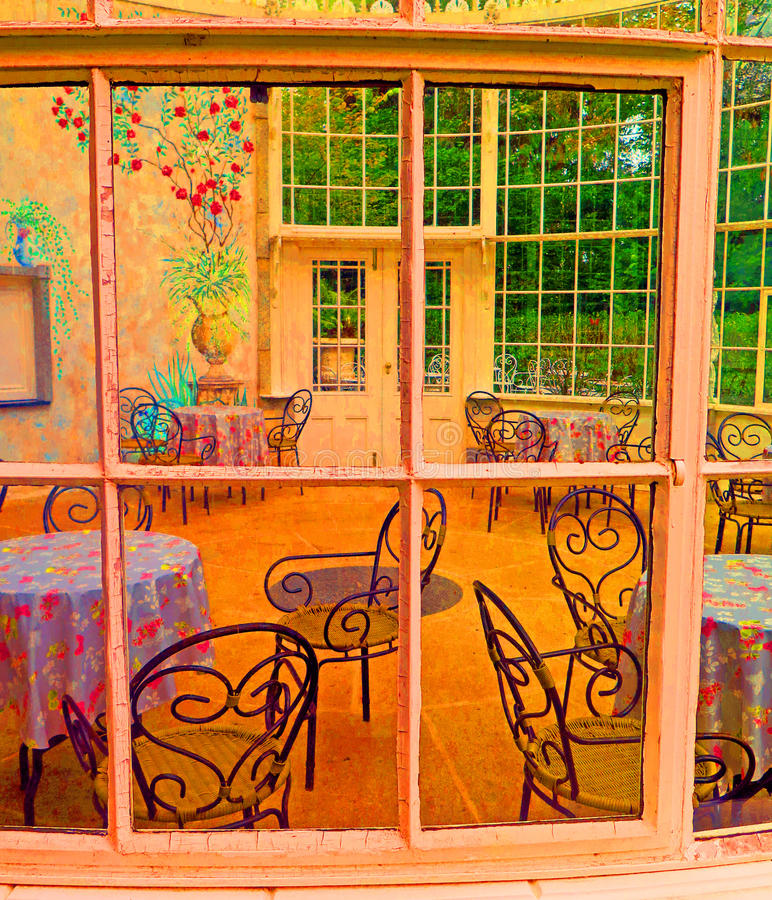 Serre dans les jardins de Woodstock, Co l'Irlande kilkenny images libres de droits