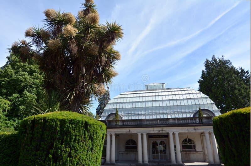 Serre van de Christchurch de Botanische Tuin - Nieuw Zeeland royalty-vrije stock foto's