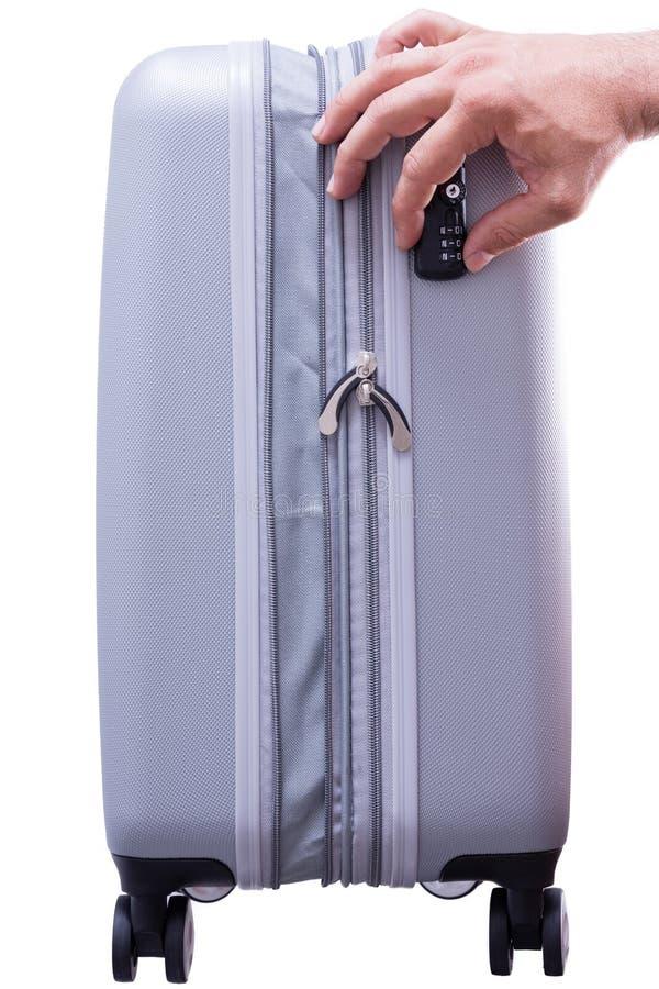 Serrure conforme de sécurité de TSA sur un cas photographie stock libre de droits