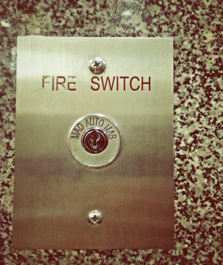 Serrure de clé de sécurité incendie image libre de droits
