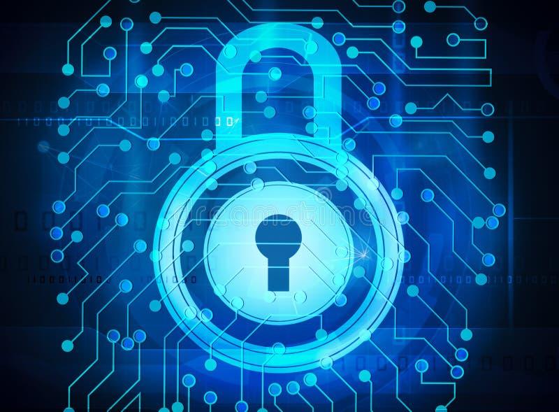 Serrure de Cybersecurity illustration stock