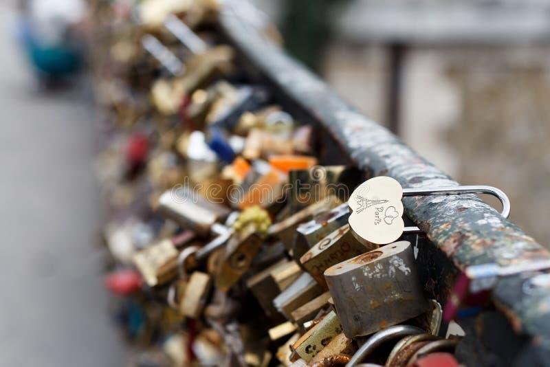 Serrure de Paris photos libres de droits