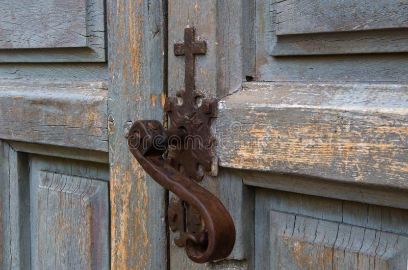 Serrure de porte d'église image stock