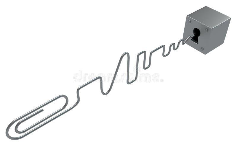 Serrure de sélection de trombone illustration de vecteur