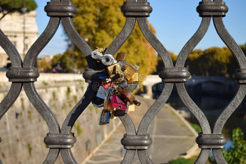 Serrure Rome Italie d'amour photo stock